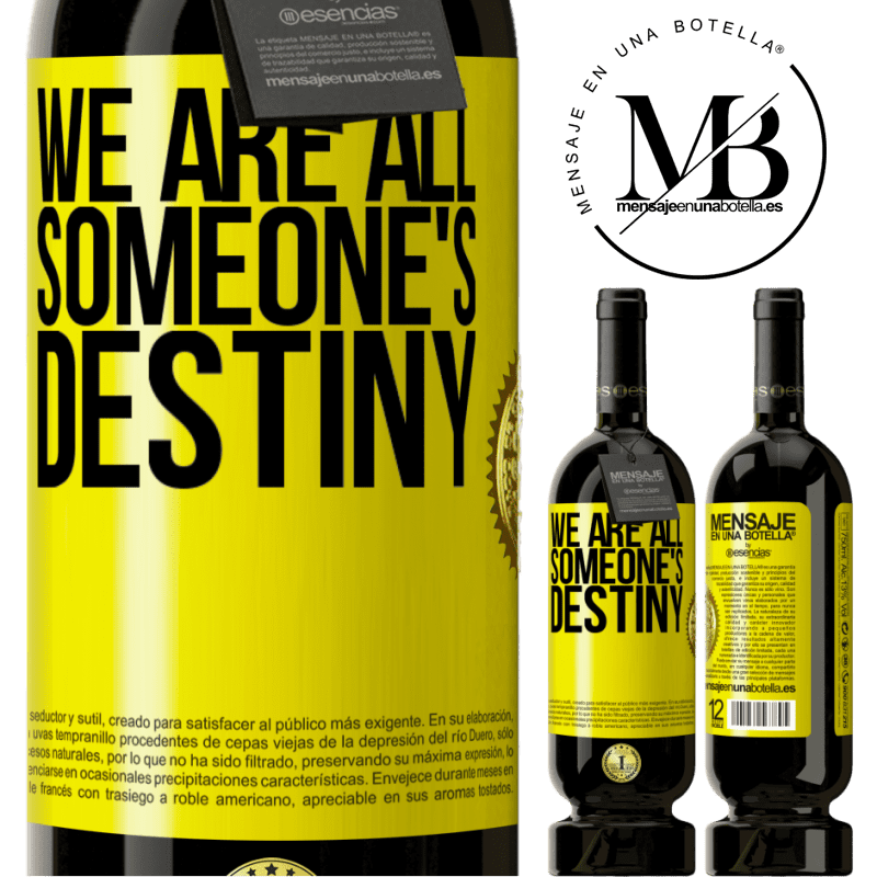 29,95 € Free Shipping | Red Wine Premium Edition MBS® Reserva We are all someone's destiny Yellow Label. Customizable label Reserva 12 Months Harvest 2013 Tempranillo