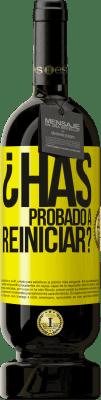 29,95 € Envío gratis | Vino Tinto Edición Premium MBS® Reserva ¿Has probado a reiniciar? Etiqueta Amarilla. Etiqueta personalizable Reserva 12 Meses Cosecha 2013 Tempranillo