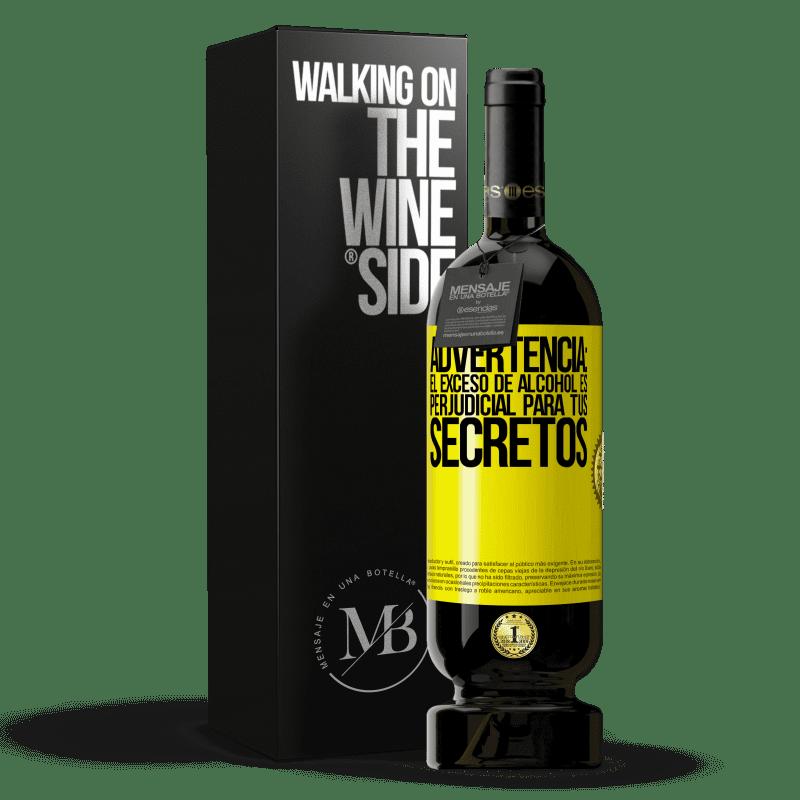29,95 € Envoi gratuit   Vin rouge Édition Premium MBS® Reserva Avertissement: un excès d'alcool est dangereux pour vos secrets Étiquette Jaune. Étiquette personnalisable Reserva 12 Mois Récolte 2013 Tempranillo
