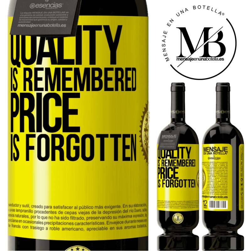 29,95 € Free Shipping | Red Wine Premium Edition MBS® Reserva Quality is remembered, price is forgotten Yellow Label. Customizable label Reserva 12 Months Harvest 2013 Tempranillo