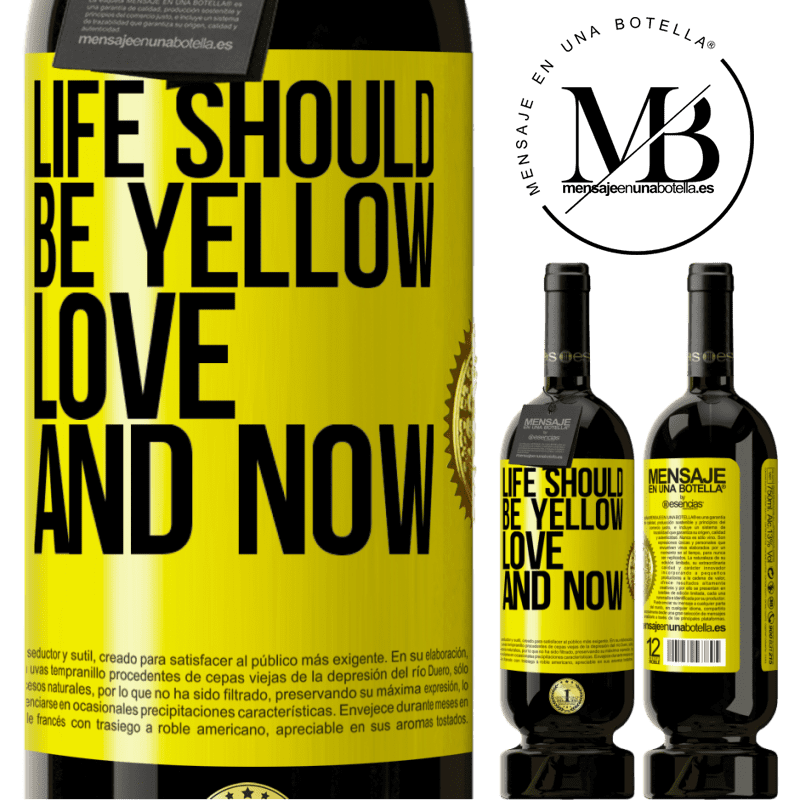 29,95 € Free Shipping | Red Wine Premium Edition MBS® Reserva Life should be yellow. Love and now Yellow Label. Customizable label Reserva 12 Months Harvest 2013 Tempranillo