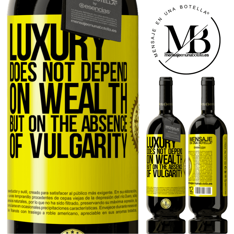 29,95 € Free Shipping   Red Wine Premium Edition MBS® Reserva Luxury does not depend on wealth, but on the absence of vulgarity Yellow Label. Customizable label Reserva 12 Months Harvest 2013 Tempranillo