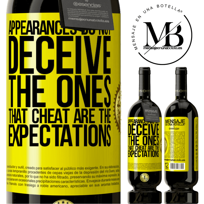 29,95 € Free Shipping | Red Wine Premium Edition MBS® Reserva Appearances do not deceive. The ones that cheat are the expectations Yellow Label. Customizable label Reserva 12 Months Harvest 2013 Tempranillo