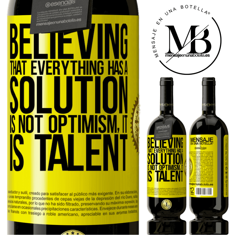 29,95 € Free Shipping | Red Wine Premium Edition MBS® Reserva Believing that everything has a solution is not optimism. Is slow Yellow Label. Customizable label Reserva 12 Months Harvest 2013 Tempranillo
