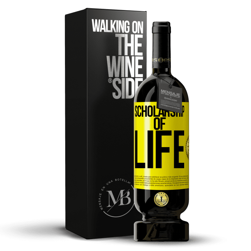 29,95 € Free Shipping | Red Wine Premium Edition MBS® Reserva Scholarship of life Yellow Label. Customizable label Reserva 12 Months Harvest 2013 Tempranillo