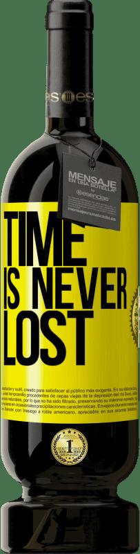 19,95 € | Red Wine Premium Edition RED MBS Time is never lost Yellow Label. Customized label I.G.P. Vino de la Tierra de Castilla y León Aging in oak barrels 12 Months Spain Tempranillo