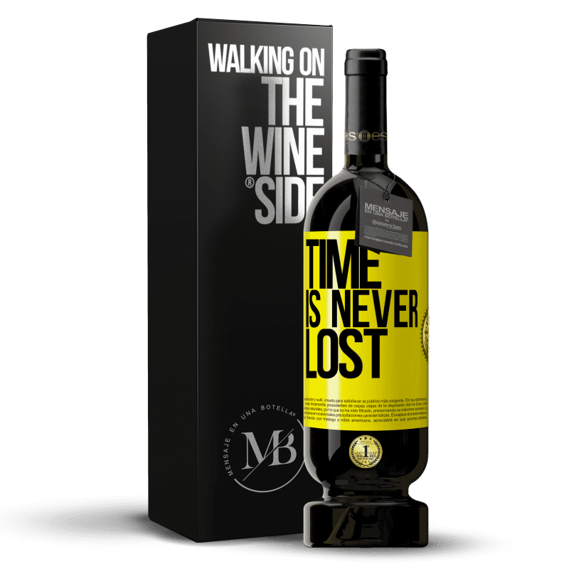 29,95 € Free Shipping | Red Wine Premium Edition MBS® Reserva Time is never lost Yellow Label. Customizable label Reserva 12 Months Harvest 2013 Tempranillo