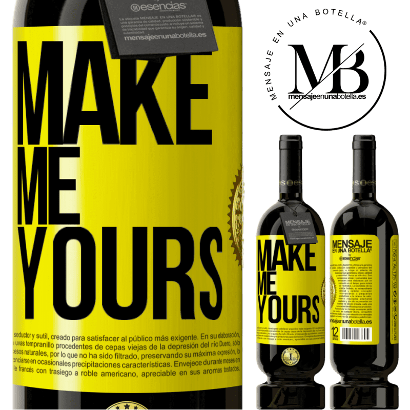29,95 € Free Shipping | Red Wine Premium Edition MBS® Reserva Make me yours Yellow Label. Customizable label Reserva 12 Months Harvest 2013 Tempranillo