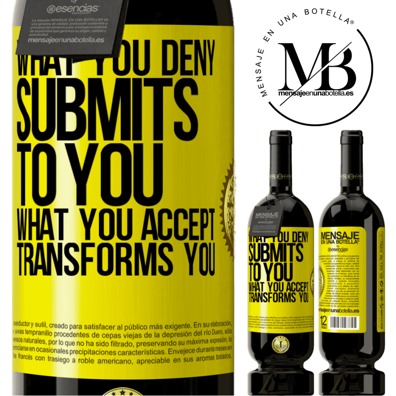 29,95 € Free Shipping | Red Wine Premium Edition MBS® Reserva What you deny submits to you. What you accept transforms you Yellow Label. Customizable label Reserva 12 Months Harvest 2013 Tempranillo