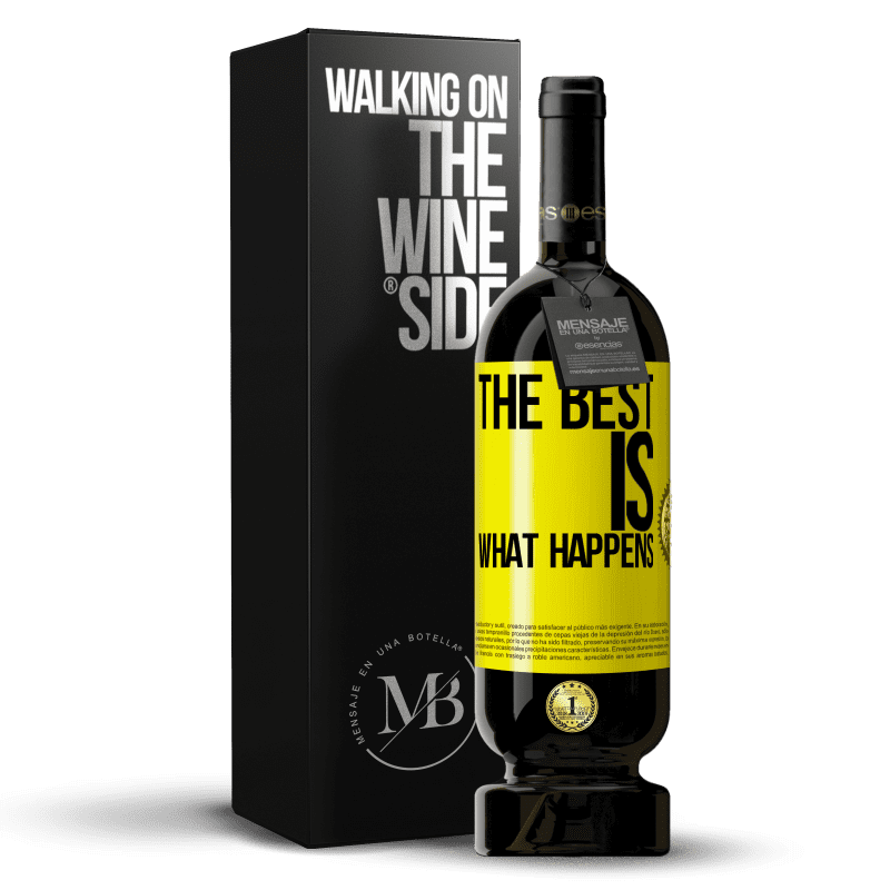 29,95 € Free Shipping | Red Wine Premium Edition MBS® Reserva The best is what happens Yellow Label. Customizable label Reserva 12 Months Harvest 2013 Tempranillo