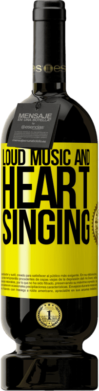 29,95 € Free Shipping | Red Wine Premium Edition MBS® Reserva The loud music and the heart singing Yellow Label. Customizable label Reserva 12 Months Harvest 2013 Tempranillo