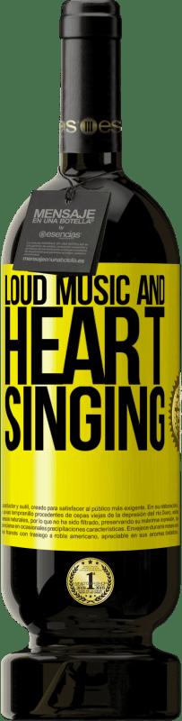 19,95 € | Red Wine Premium Edition RED MBS The loud music and the heart singing Yellow Label. Customized label I.G.P. Vino de la Tierra de Castilla y León Aging in oak barrels 12 Months Spain Tempranillo