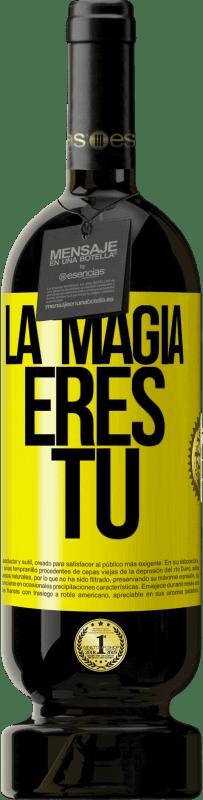 29,95 € Envío gratis | Vino Tinto Edición Premium MBS® Reserva La magia eres tú Etiqueta Amarilla. Etiqueta personalizable Reserva 12 Meses Cosecha 2013 Tempranillo