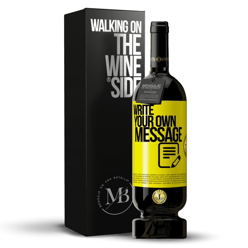 29,95 € Free Shipping   Red Wine Premium Edition MBS® Reserva Write your own message Yellow Label. Customizable label Reserva 12 Months Harvest 2013 Tempranillo