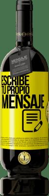 29,95 € Envío gratis | Vino Tinto Edición Premium MBS® Reserva Escribe tu propio mensaje Etiqueta Amarilla. Etiqueta personalizable Reserva 12 Meses Cosecha 2013 Tempranillo