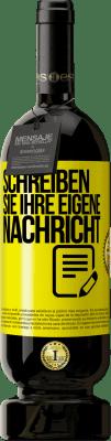 29,95 € Kostenloser Versand   Rotwein Premium Edition MBS® Reserva Schreiben Sie Ihre eigene Nachricht Gelbes Etikett. Anpassbares Etikett Reserva 12 Monate Ernte 2013 Tempranillo