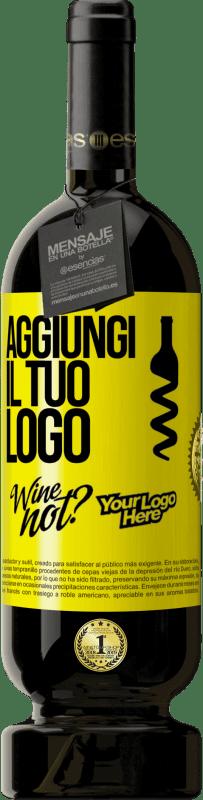29,95 € Spedizione Gratuita | Vino rosso Edizione Premium MBS® Reserva Aggiungi il tuo logo Etichetta Gialla. Etichetta personalizzabile Reserva 12 Mesi Raccogliere 2013 Tempranillo