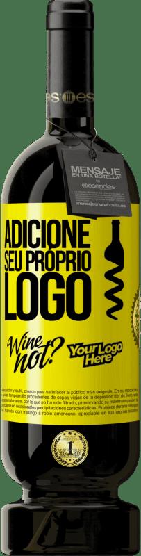 29,95 € Envio grátis | Vinho tinto Edição Premium MBS® Reserva Adicione seu próprio logo Etiqueta Amarela. Etiqueta personalizável Reserva 12 Meses Colheita 2013 Tempranillo