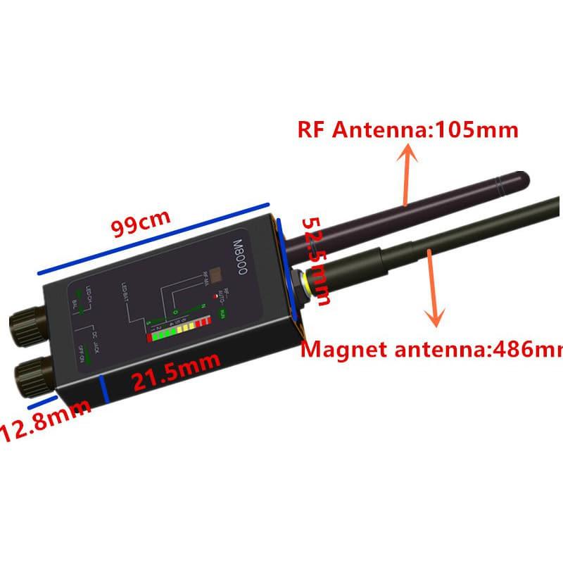 115,95 € Free Shipping   Signal Detectors Dual Antenna radio frequency detector. Anti-Spy signal detector. Hidden camera detector. CDMA/GSM device finder. Alarm function