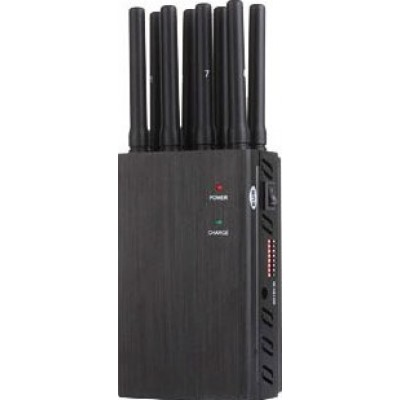 172,95 € 免费送货 | 手机干扰器 8个天线。高功率便携式信号阻断器 3G Portable