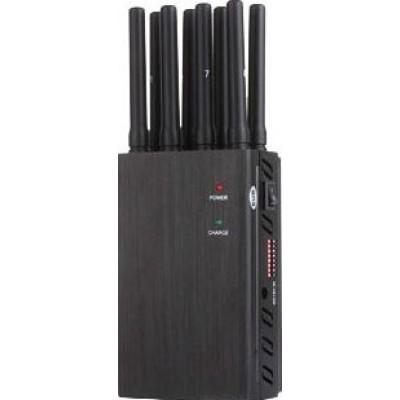 172,95 € Бесплатная доставка | Блокаторы мобильных телефонов 8 антенн. Мощный портативный блокатор сигналов 3G Portable