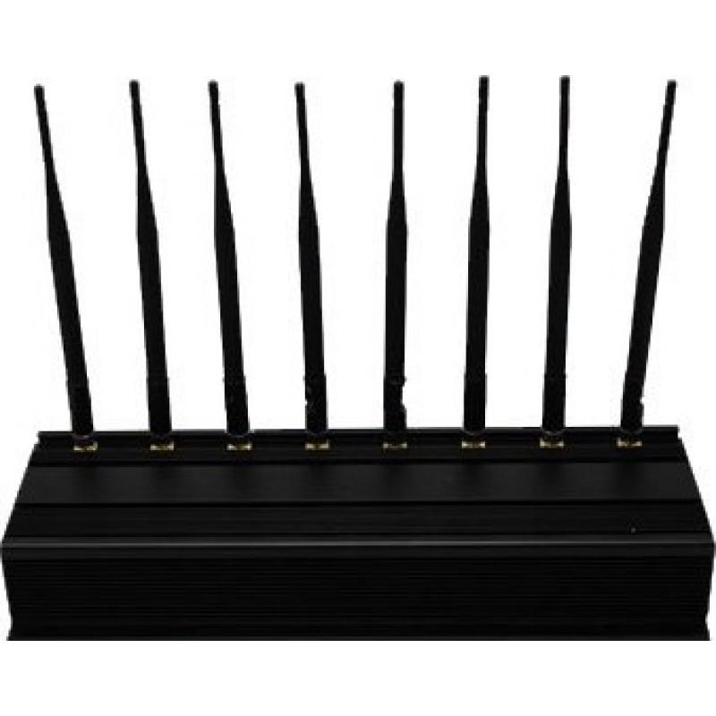 259,95 € Envío gratis | Bloqueadores de Teléfono Móvil 8 antenas. Bloqueador de señal exterior de banda completa