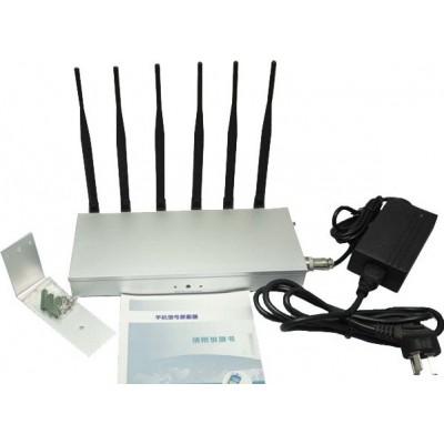 135,95 € Envío gratis | Bloqueadores de Teléfono Móvil 6 antenas. Bloqueador de señal de alta potencia DCS