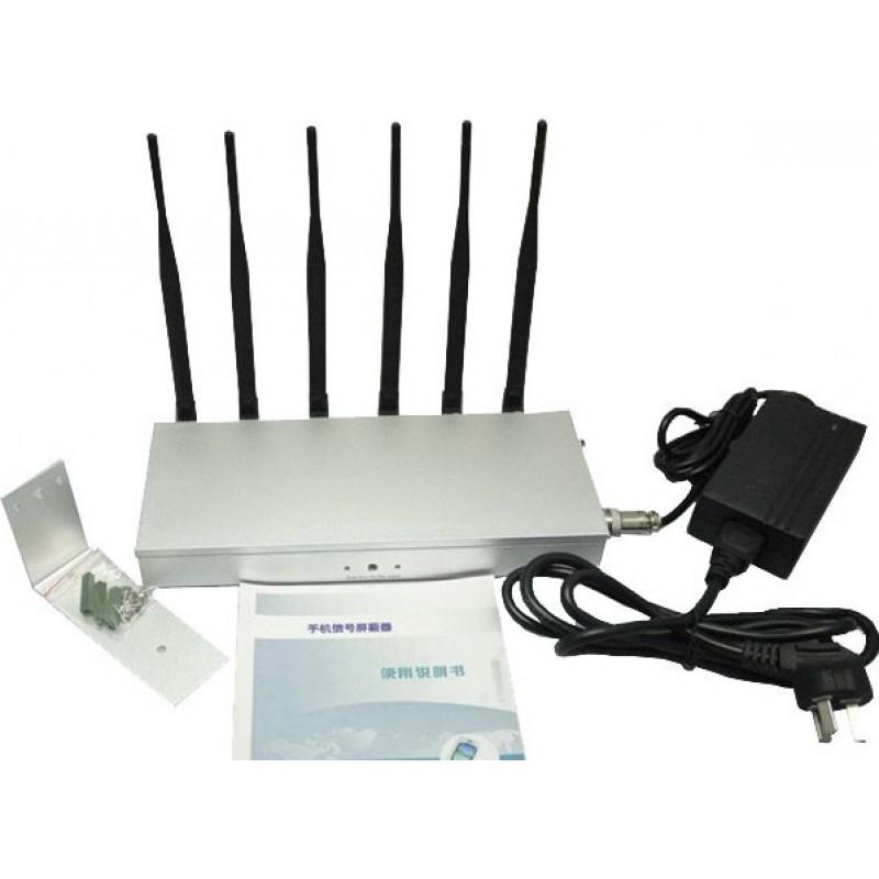 135,95 € Бесплатная доставка | Блокаторы мобильных телефонов 6 антенн. Блокатор сигналов высокой мощности DCS