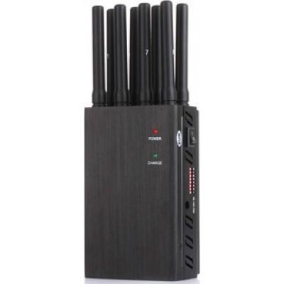 携帯電話ジャマー 8本のアンテナ。高出力ポータブル信号ブロッカー 3G Portable