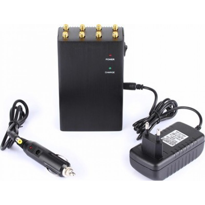 Cell Phone Jammers 8 Antennas. High power portable signal blocker 3G Portable