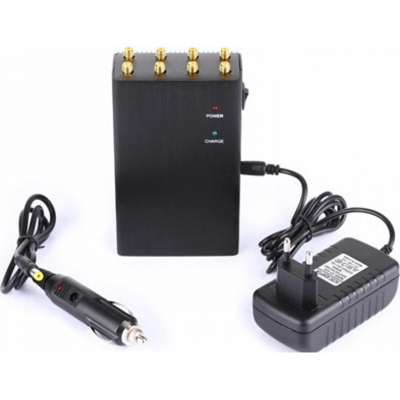 Handy-Störsender 8 Antennen. Mobiler Hochleistungs-Signalblocker 3G Portable
