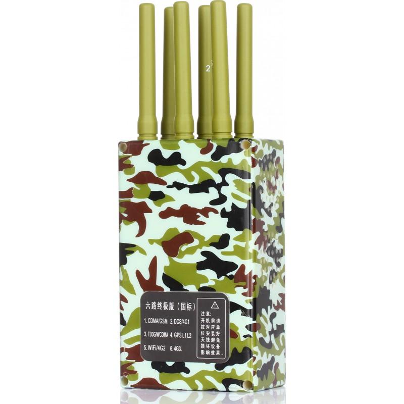 202,95 € 免费送货 | 手机干扰器 军质便携式信号拦截器 Portable