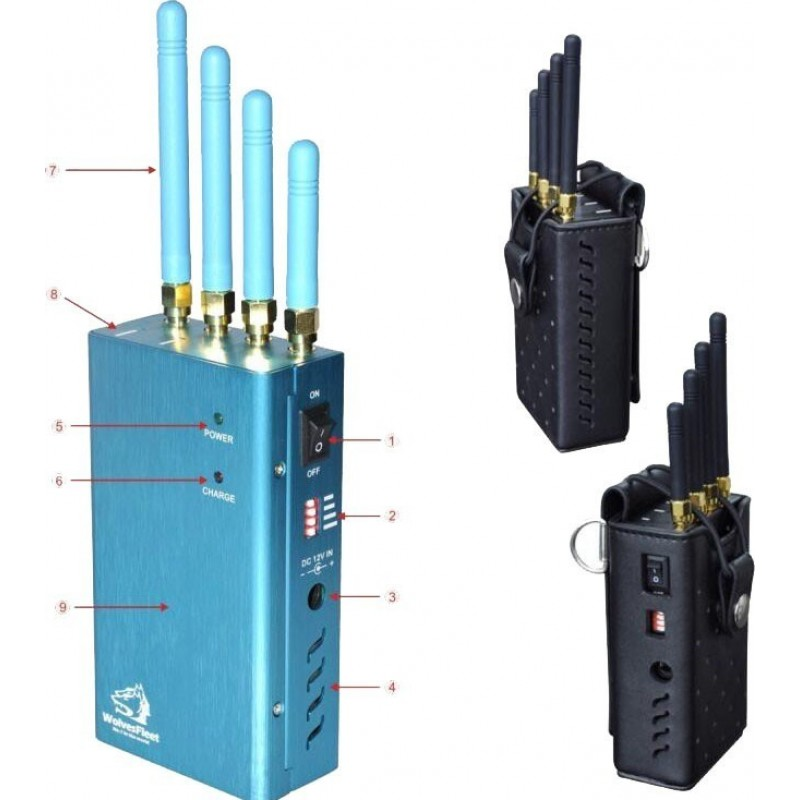 118,95 € Free Shipping   GPS Jammers Portable high power handheld signal blocker. All worldwide networks GPS L1 Handheld