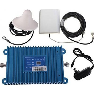 Handy-Signalverstärker. Verstärker- und Antennen-Kit. LCD Bildschirm