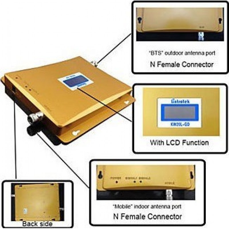 154,95 € Envío gratis | Amplificadores de Señal Amplificador de señal de teléfono móvil de doble banda. Kit amplificador GSM
