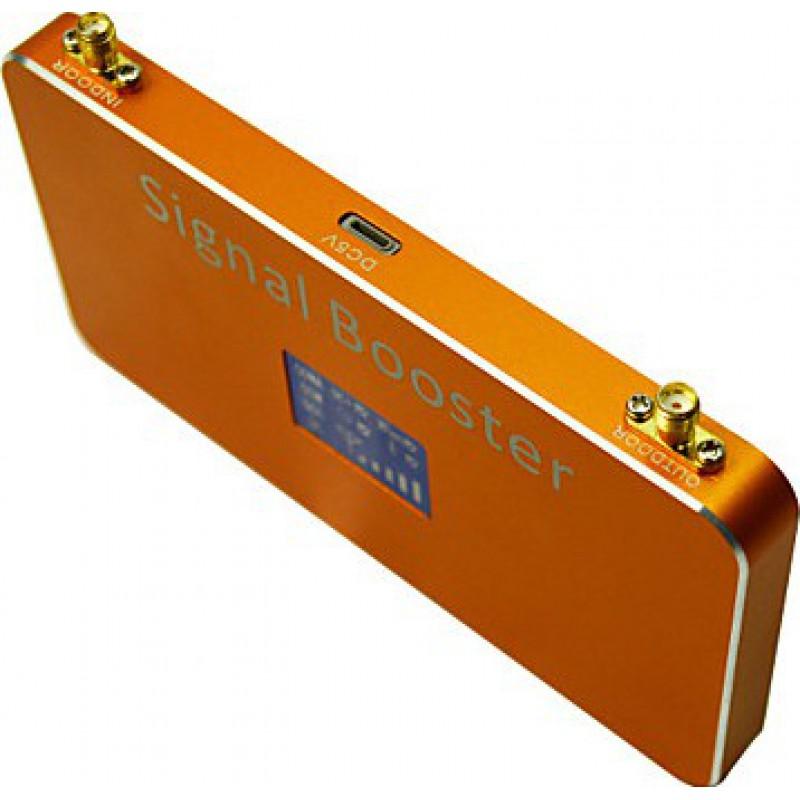 Amplificateurs de Signal Amplificateur de signal de téléphone mobile. Amplificateur avec antennes fouet et ventouse. Couleur or. Affichage LCD CDMA 1000m2