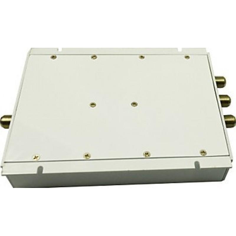 Signalverstärker Handy-Signalverstärker. Verstärker mit Whip- und Yagi-Antennen. Weiße Farbe. LCD Bildschirm GSM
