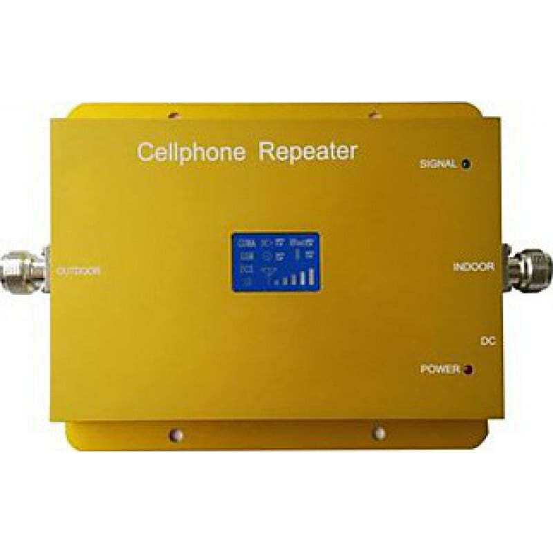 Signal Boosters Dual band cell phone signal booster. Panel and ceiling antenna. LCD Display GSM