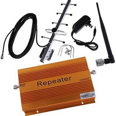 85,95 € 送料無料 | シグナルブースター 70dB高ゲイン携帯電話信号ブースター。鞭と八木アンテナ GSM 2000m2