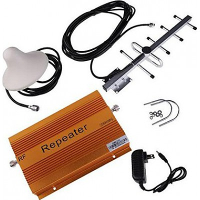 85,95 € Free Shipping | Signal Boosters 70dB Gain cell phone signal booster. Ceiling and Yagi antennas CDMA 2000m2