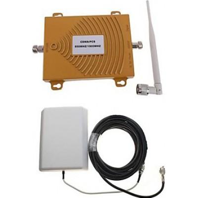 Amplificateur de signal bi-bande pour téléphone portable. Kit amplificateur et antenne