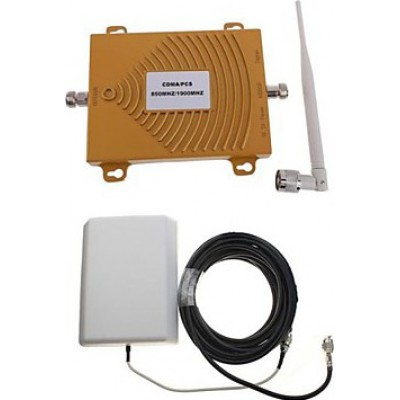 Dual-Band-Handy-Signalverstärker. Verstärker- und Antennensatz