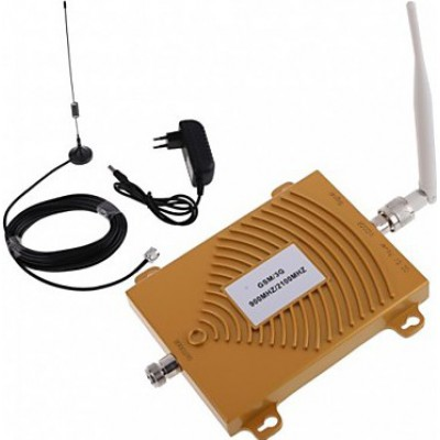 Dual band cell phone signal booster. Repeater and antenna kit