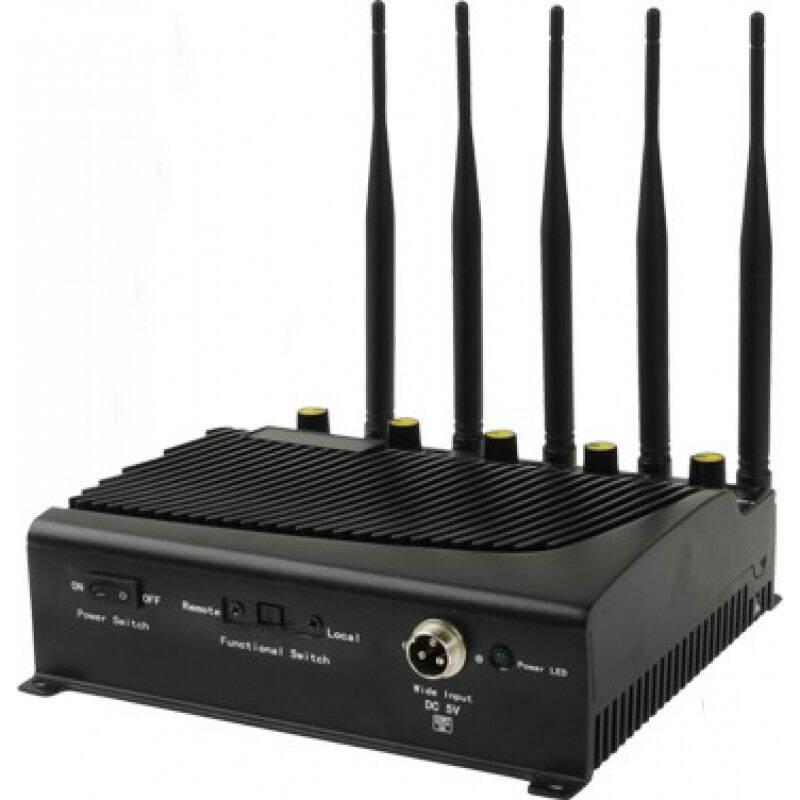 Bloqueurs de Téléphones Mobiles 5 antennes. Puissant bloqueur de signal GSM 40m