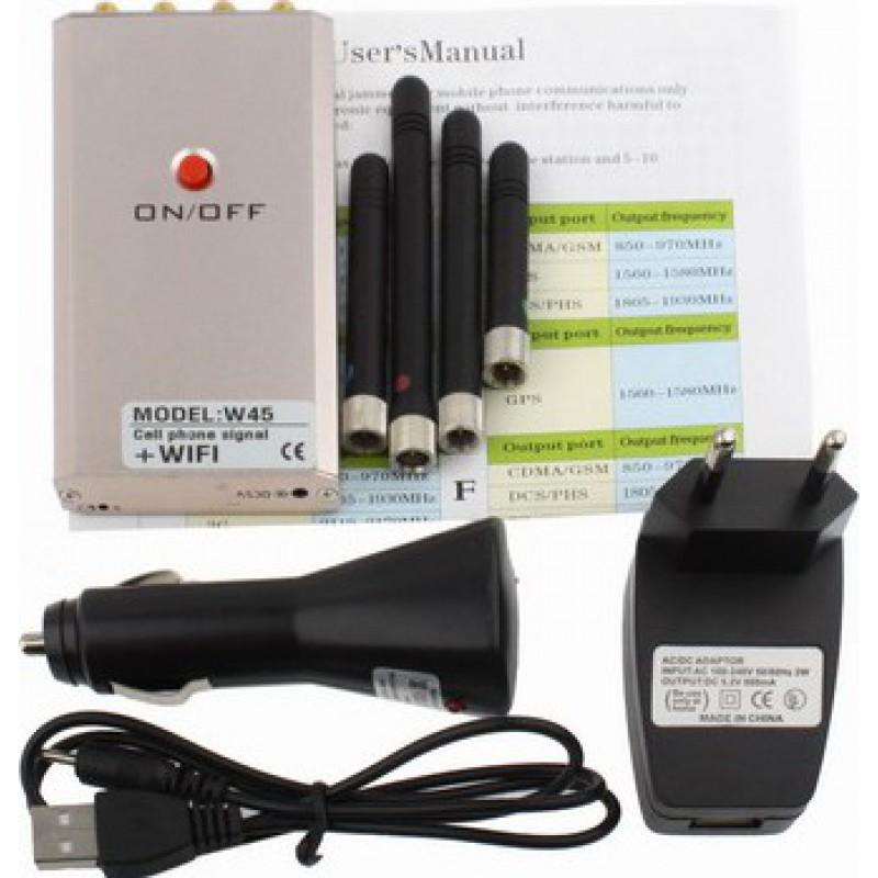 45,95 € Envoi gratuit | Bloqueurs de Téléphones Mobiles Mini bloqueur de signal portable GSM Portable 10m