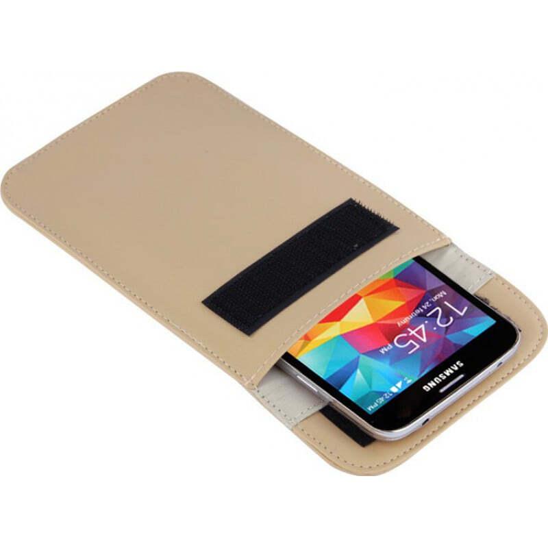 Störsender-Zusätze Strahlenschutzbeutel. Etui zur Signalblockierung für Smartphones. Kahki Farbe
