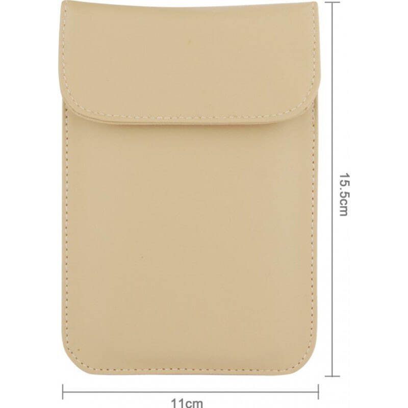 Accessoires d'Inhibiteur Sac de protection anti-rayonnement. Étui de blocage des signaux pour smartphones. Couleur kahki