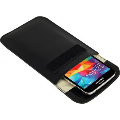 Protective anti-radiation bag. Signal blocking case pouch for smartphones. Black color