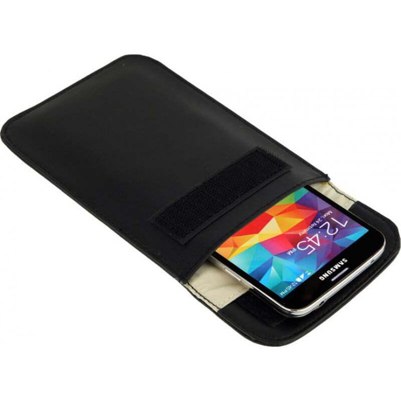 Störsender-Zusätze Strahlenschutzbeutel. Etui zur Signalblockierung für Smartphones. Schwarze Farbe