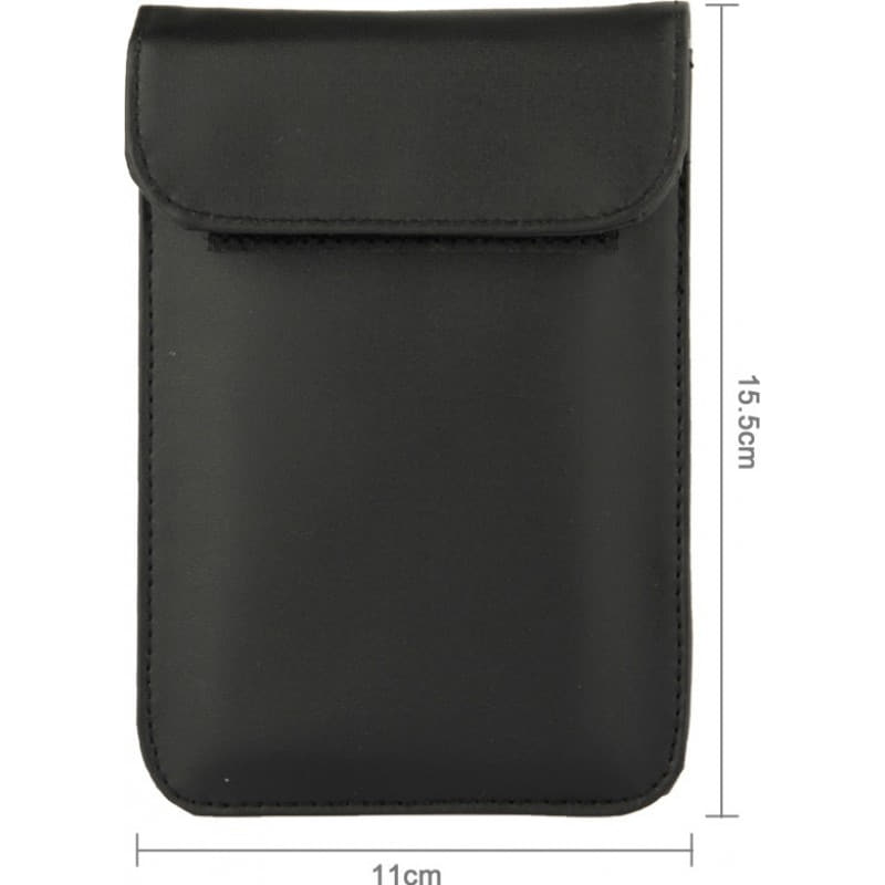 Jammer Accessories Protective anti-radiation bag. Signal blocking case pouch for smartphones. Black color